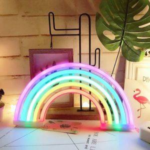 Neon-regenboog-lamp