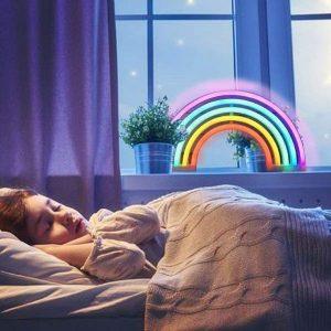 regenbooklamp bed